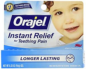 Baby Orajel Instant Relief for Teething Pain, Cherry Flavored 0.33 oz