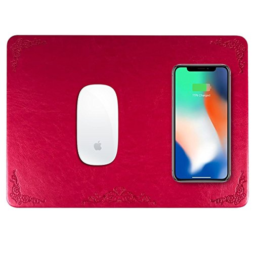 Qi Wireless Charger,Wireless Mouse Pad Charger, 2 in 1 Mouse Pad,Mat With...