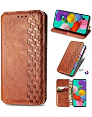 Miagon Samsung Galaxy Note 20 Fashion Wallet Case,Retro PU Leather Book Flip Cover Protective Shockproof Bumper with Magnetic Card Slots Stand Function,Brown