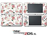 #7: Flowers Roses Pink White Art Wallpaper Video Game Vinyl Decal Skin Sticker Cover for Nintendo New 2DS XL System Console