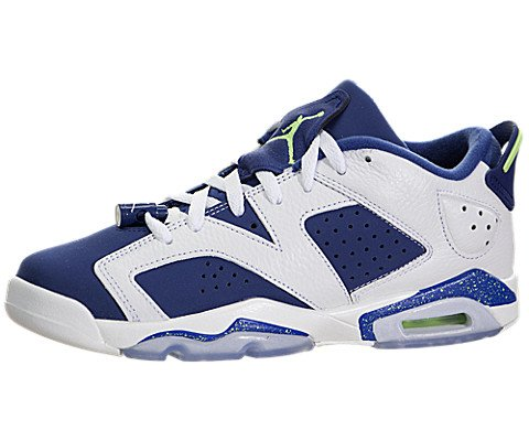 1659c4b2c494 Jordan Big Kids Air Jordan 6 Retro Low BG (white   ghost green   insignia