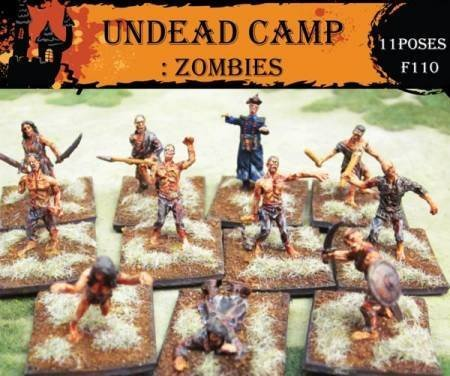 - Fantasy Series: Undead Camp Zombies (Caesar Miniatures) - 1/72 scale