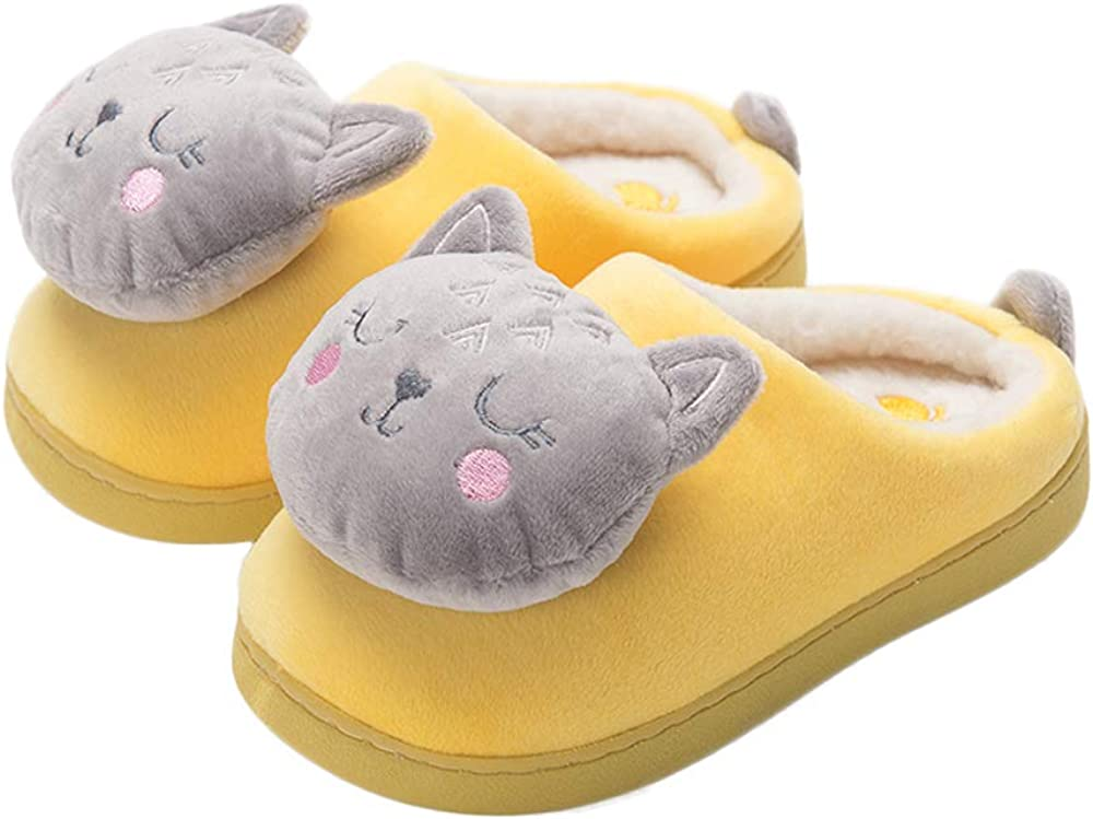 Bmeigo House Slippers Plush Cartoon Warm Funny Fleece Winter Indoor Shoes