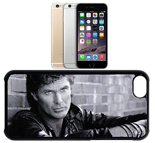 Cas de l'iPhone 6. Plastique noir avec High Gloss Imprime Inserer - David Hasselhoff