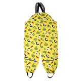 Prettyia New Boys Girls Kids Waterproof Trousers Pants Outdoor Raincoat Outwear Rainwear - Yellow, XL