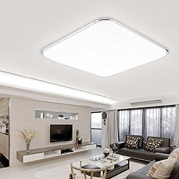 Hengda® 64W LED eckig Deckenleuchte Silber Deckenbeleuchtung für ...