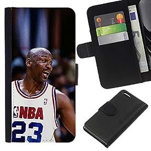 23 Baloncesto héroe - la tarjeta de Crédito Slots PU Funda de cuero Monedero caso cubierta de piel Para Apple iPhone 5C