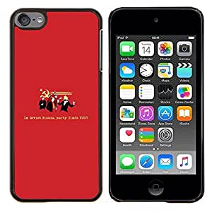 YiPhone /// Prima de resorte delgada de la cubierta del caso de Shell Armor - Comunismo Partido Colorado Símbolo Cita divertida - Apple iPod Touch 6 6th Touch6