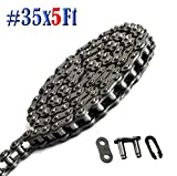 Donghua Standard #35 Single Strand Roller Chain 5 Ft(159 Links), With 1 Connecting/ Master Link, Sports Utility Vehicle Chain Replacement Perfect for Go Kart/Scooter/Mini bike