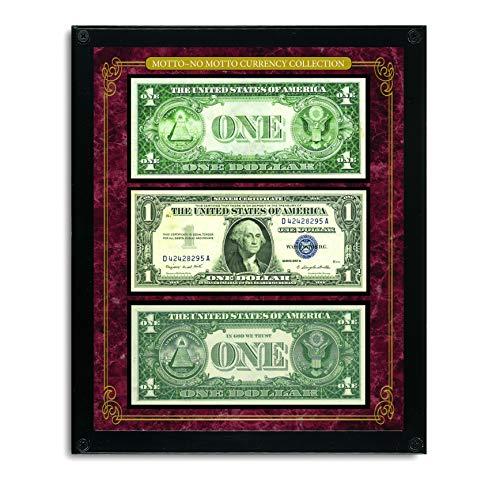 American Coin Treasures Motto-No Motto Currency Collection Acrylic Frame