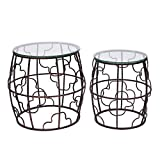 ELEGAN Luxury Classic Metal Accent Nesting Side End Table (Set of 2) (Copper) Review