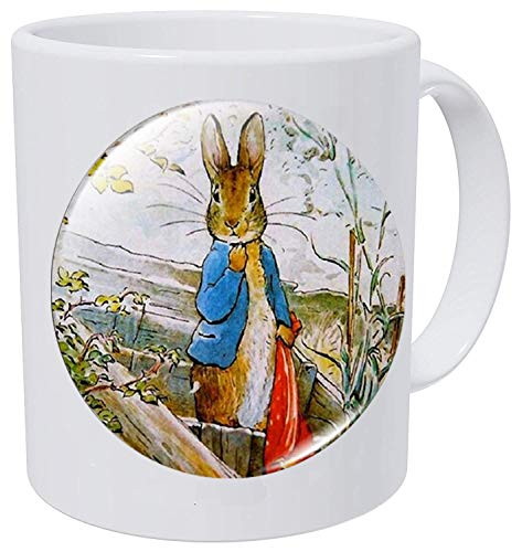 hars Anime Cute Cartoon Peter Rabbit Necklace Glass Dome Animal Coffee Mug Customized Gift
