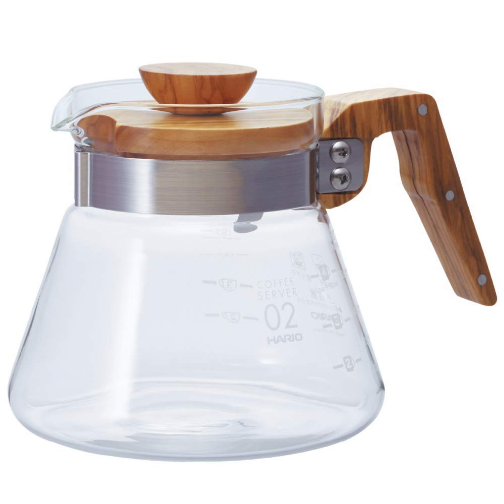Hario VCWN-60-OV Coffee Server, 600 ml, Olive Wood