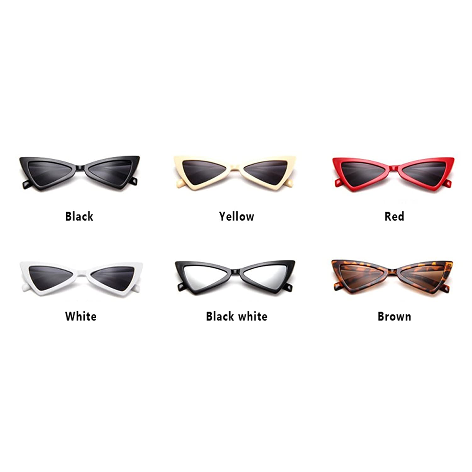 Hzjundasi MOD-Style Cat Eye Series Triangle Non-intensity Sun Glasses Retro Personality Glare-proof Glasses h2yQJgd7RW
