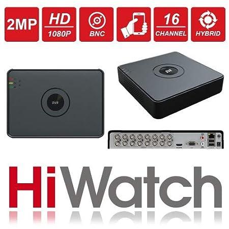HiWatch by Hikvision DVR-116G-F1 16 Canales 2 MP 1080P Turbo HD DVR, función de Alerta de Correo electrónico, detección de Movimiento y P2P visión móvil en ...