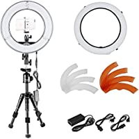Neewer Ring Light LED 14-inch Dimmable with Tabletop Tripod lighting kit: 36W 180 Pieces LED Ring Video Light,Tripod,Phone Holder,Diffuser for Portrait Product Photography YouTube Video recording