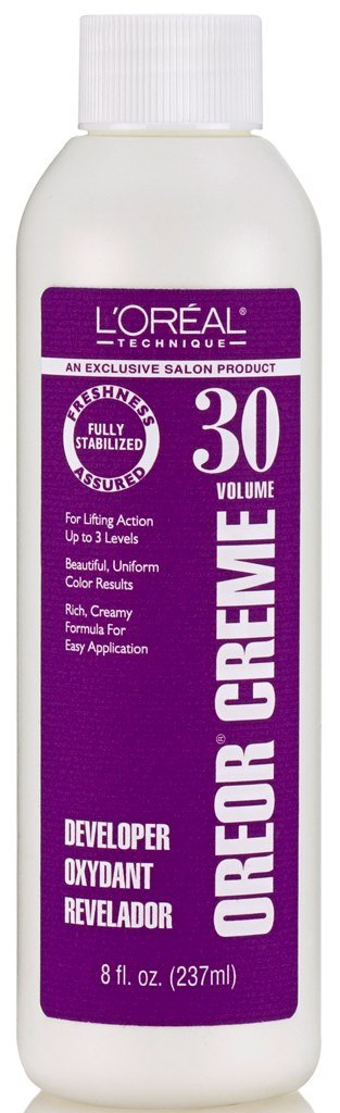 Loreal Oreor Creme 30 Volume Developer 8 Ounce (235ml) (2 Pack)