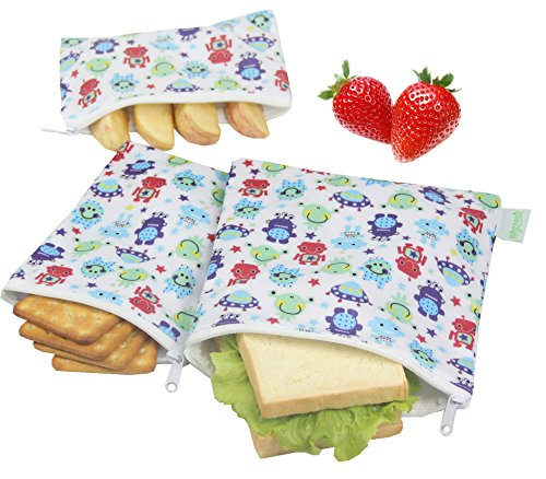 Free Eco Friendly Bags (Wegreeco Reusable Snack Bags, (Set of 3) - Robert)