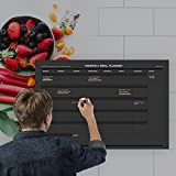 Erasable Monthly Meal Planner - 18''x27'' inch | Menu Prep for Kitchen Wall or Fridge/Black