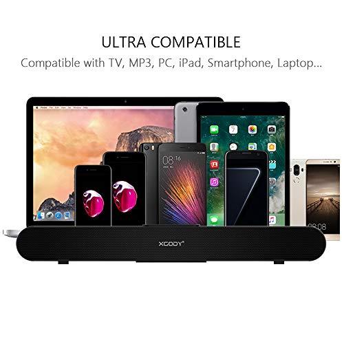 TV Sound Bar XGODY 20'' G-XS01 Wireless Wired Audio Surround Soundbar Bluetooth 5.0 Speaker with 2.0 Channel Sound System by XGODY (Image #1)