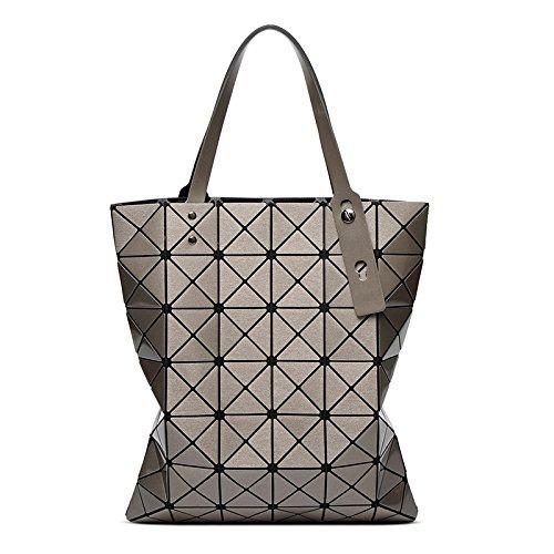 Geometry Bolso Bronze Hombro bag XZW Lady Bolso De Laser Pack Lingge Women's EAyqB