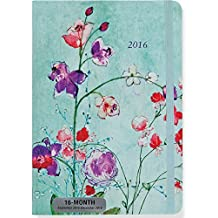 2016 Fuchsia Blooms Weekly Planner (16-Month Engagement Calendar, Diary)