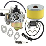 honda gx160 carburetor kit - Anzac 16100-ZH8-W61 Carburetor with Ignition Coil Tuen up kit For Honda GX160 5.5HP GX200 6.5 HP Engine