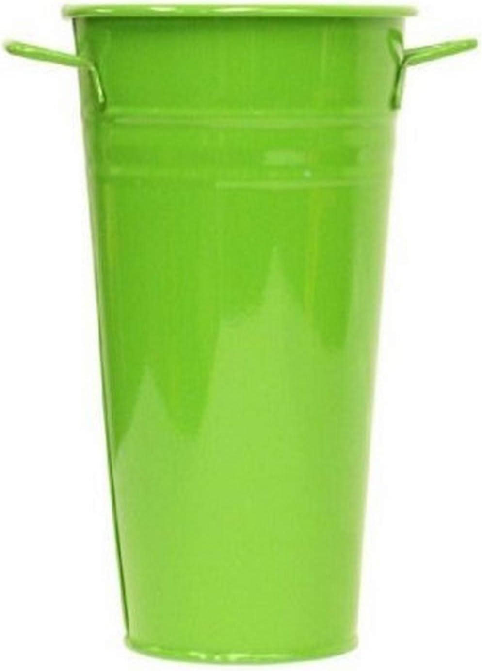 Amazon Com Houston International 8300e Ag 7 Inch Steel Vase Apple Green Decorative Vases Garden Outdoor