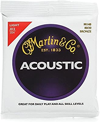 Martin 80/20 Bronze Traditional Acoustic Guitar Strings by Martin