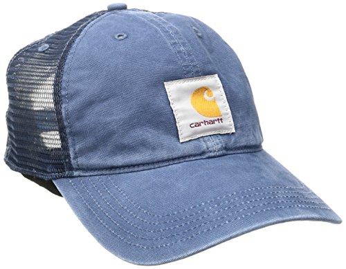 Carhartt Men's Buffalo Sandstone Meshback Cap, Dark Blue, OFA ()