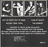 Out of Sight Out Of Mind/Holier Than Thou/Rain of Death/The Bunker Vinyl 45