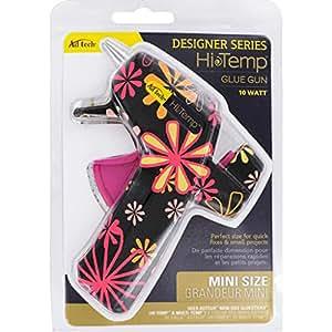 AdTech High Temp Mini Hot Glue Gun in Black Daisy | Arts and Crafts and DIY | Fun and Cute Tool | Item #0502