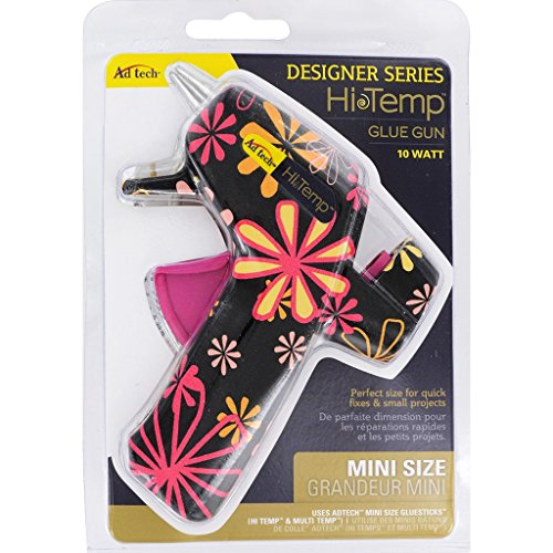 AdTech High Temp Mini Hot Glue Gun in Black Daisy | Arts and Crafts and DIY | Fun and Cute Tool | Item #0502