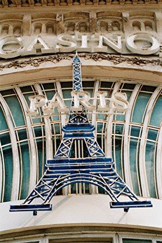 Eiffel Tower Sign Close Up Paris Hotel Casino Las Vegas Nevada Photo Art Print Poster 12x18 inch