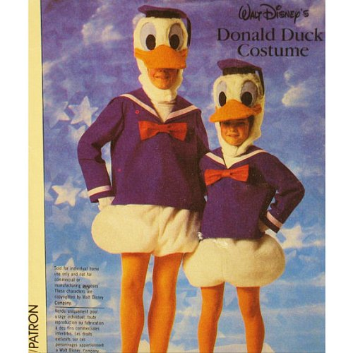 Simplicity 7731 Donald Duck Costume Pattern Adult Medium (36-38) Walt Disney (Donald And Daisy Duck Costumes)