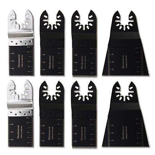hitommy 8pcs Set de cuchillas de multiherramienta oscilante multiherramienta hoja de sierra para Dewalt Stanley Worx...