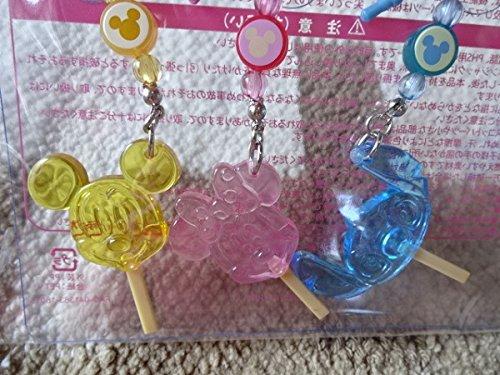 東京ディズニーリゾート べっこうあめ ストラップ 3コセット ミッキー ミニー スティッチ イヤホンジャック付きの商品画像