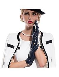 MATSU Fashion Women Winter Warm Leather Gloves 5 Colors M9213