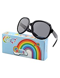 CGID Soft Rubber Kids Girls Trendy stylish Polarized Sunglasses for Children,K89