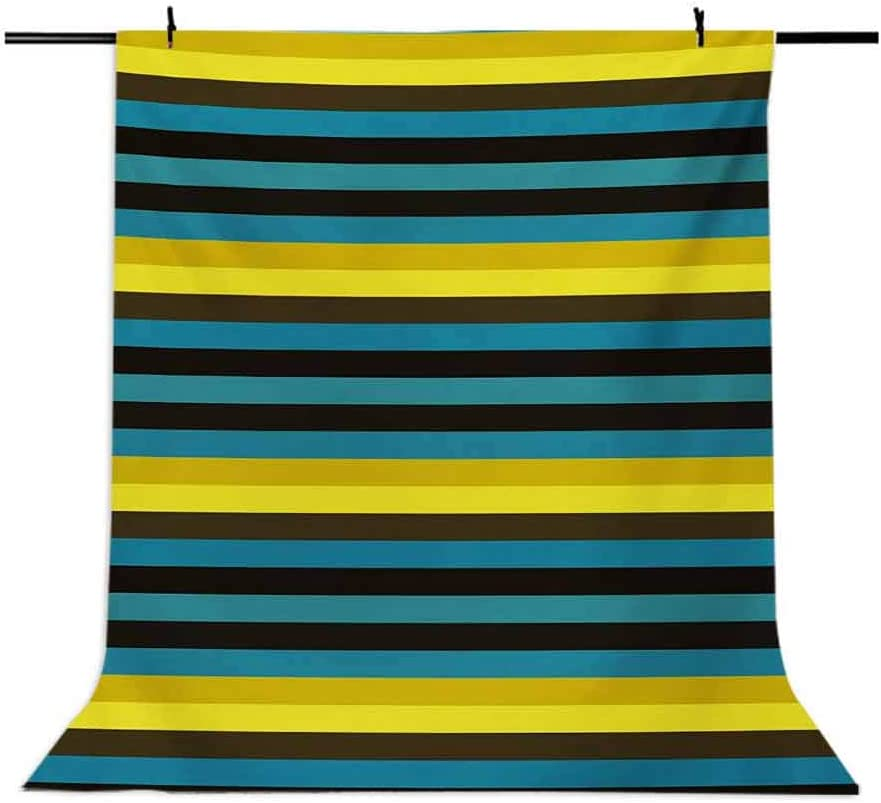 Retro 10x15 FT Photo Backdrops,Striped Geometric Pattern with Funky Colorful Lines Horizontal Illustration Print Background for Baby Shower Bridal Wedding Studio Photography Pictures Multicolor