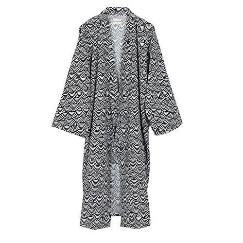 (FANCY PUMPKIN Men's Yukata Robes Kimono Robe Khan Steamed Clothing Pajamas #04)