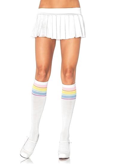 Leg avenue calcetines blancos arco iris rosa: Amazon.es: Alimentación y bebidas
