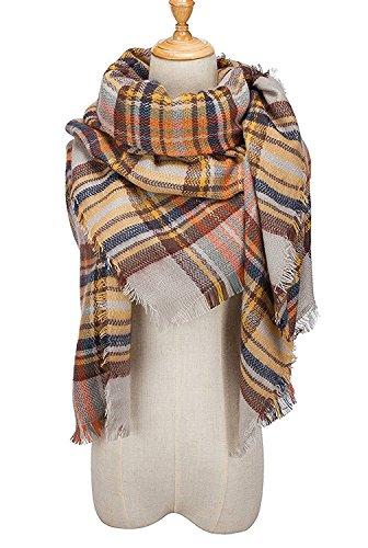 MOLERANI Womens Tassels Soft Plaid Tartan Scarf Winter Large Blanket Wrap Shawl