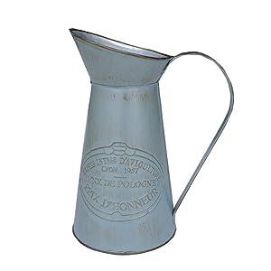 APSOONSELL Fleur Métal Vase Décoratif Tin Eau Pichet Pichet Rustique Style Décor de Jardin