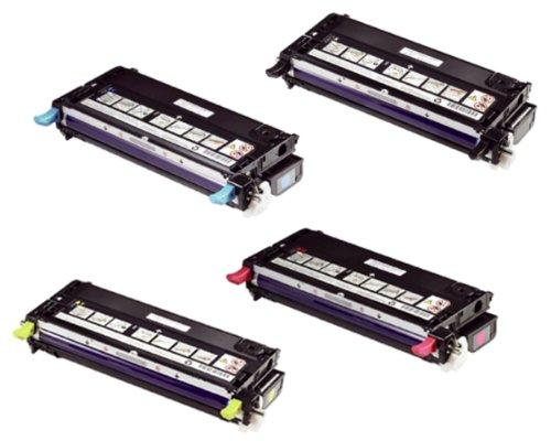Dell 3130Cn Color Laser Printer Oem Toner Cartridge Set - Black, Cyan, Magenta & Yellow
