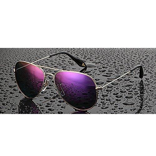 Goggles Beach Gafas Color mujeres ligero moradas de G polarizadas Selfie Retro de UV400 Driving YXX doradas las sol Y8xPrw8fqC