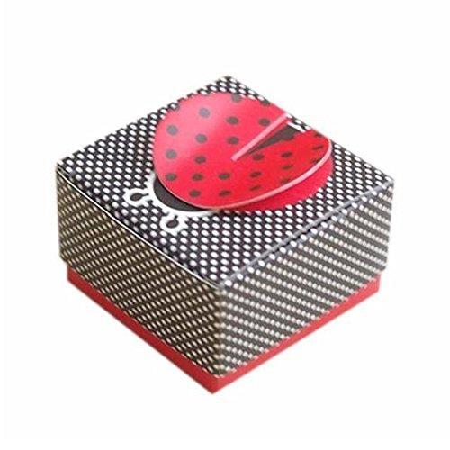 SODIAL 50pcs Ladybug Wedding Bonbonniere Birthday Party Candy Boxes