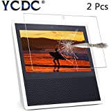YCDC Amazon Echo Show Protector, 9H Hardness Tempered Glass Film,0.3mm 2.5D Bubble Free HD Screen Protector, 2Pcs Pack