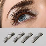 【Upgrade】Long Dual Magnetic False Eyelashes -Ultra Thin 3D Fiber Reusable magnetic eyelashes (JMS)