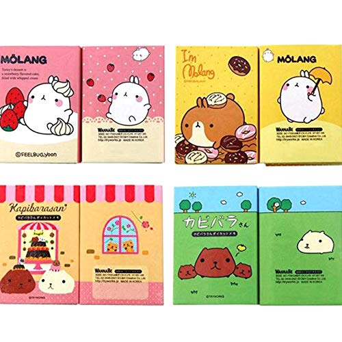 Measurement Smart Bookmarks - New-Sky-View - Cartoon Animals 6 Folding Memo Pad Sticky Notes Bookmark Stationery Notepad Cute